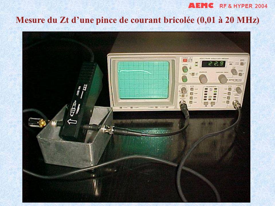AEMC RF & HYPER 2004 Un générateur de carrés de 1 Hz à 1 MHz sur piles peut servir de générateur de contrôle (81 dBµV @ F 0 - 60,2 dBµV @ 11.F 0 )