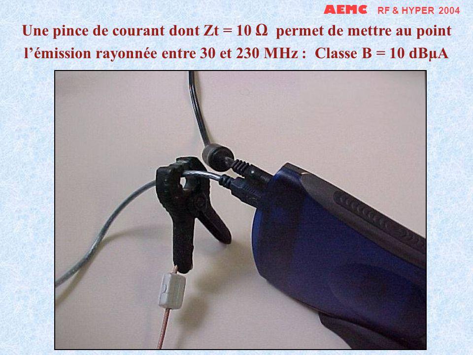 AEMC RF & HYPER 2004 Mesure du Zt dune pince de courant bricolée (0,01 à 20 MHz)