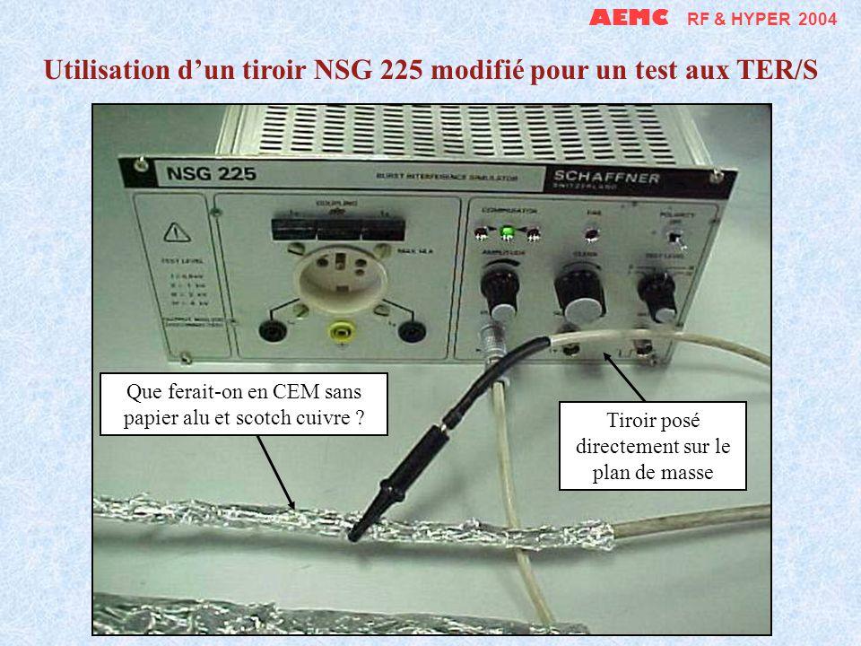 AEMC RF & HYPER 2004 Modification dun tiroir NSG 225 pour le rendre autonome Alimentation directe par une prise - filtre ajoutée Suppression du connec