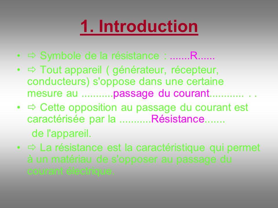 Expérience 3 : - Entre les bornes A et B du circuit ci- dessus, relions successivement des conducteurs : - de même longueur - de même nature - de section différente