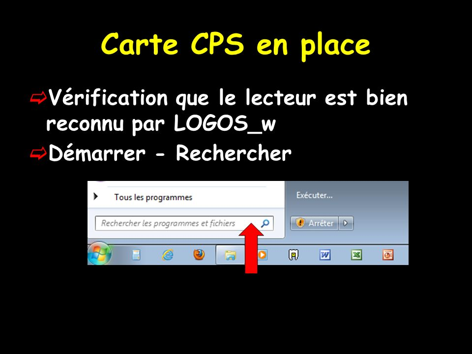 Carte CPS en place On tape : CPGESW32
