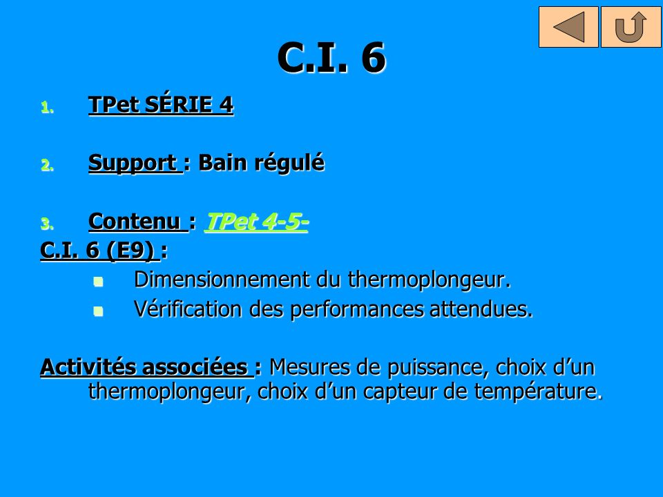 C.I.7 1. TPet SÉRIE 5 2. Support : Ouvre porte 3.