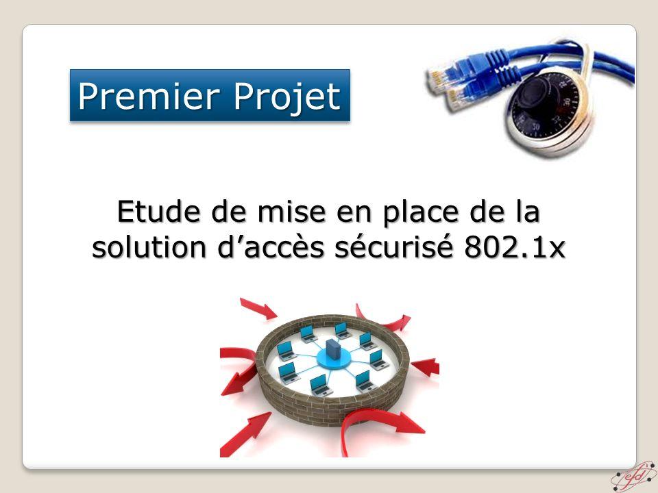 Premier Projet Etude de mise en place de la solution daccès sécurisé 802.1x