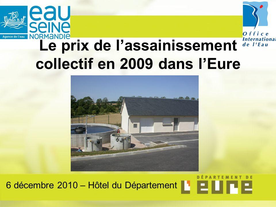 Le prix de lassainissement collectif en 2009 dans lEure 6 décembre 2010 – Hôtel du Département