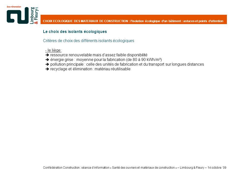 CHOIX ECOLOGIQUE DES MATERIAUX DE CONSTRUCTION : lisolation écologique dun bâtiment : astuces et points dattention - le liège: ressource renouvelable