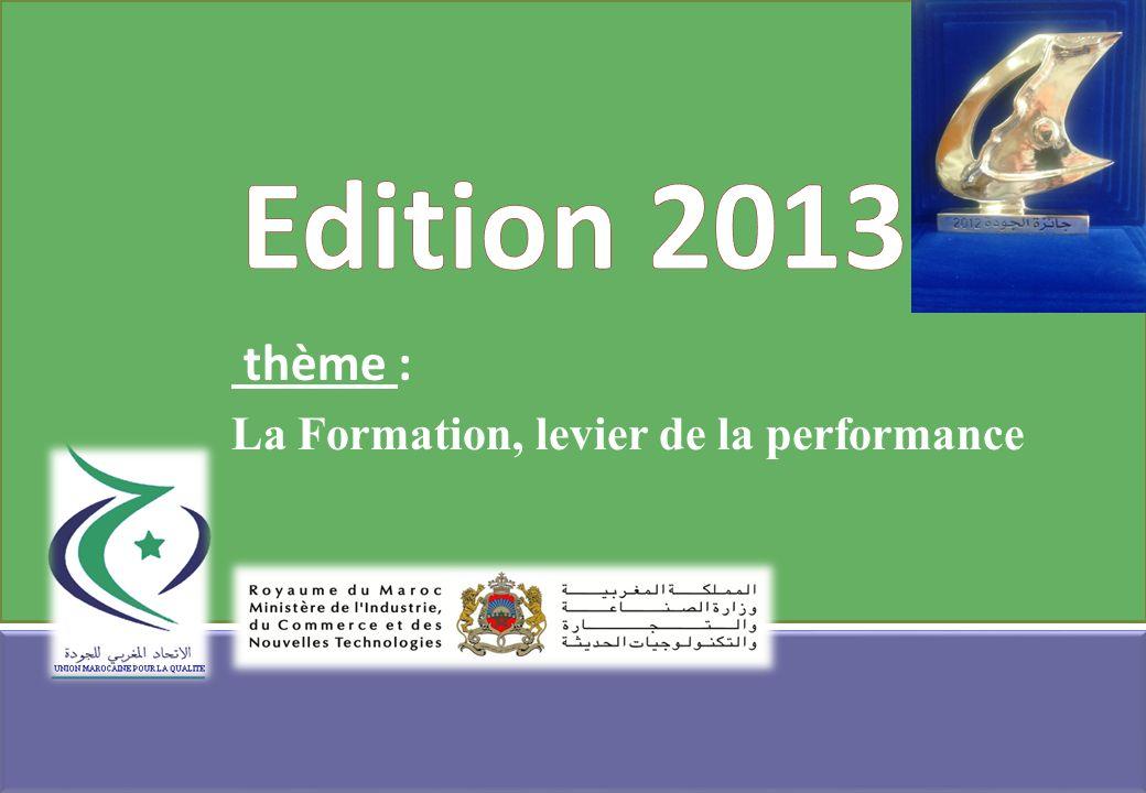 thème : La Formation, levier de la performance