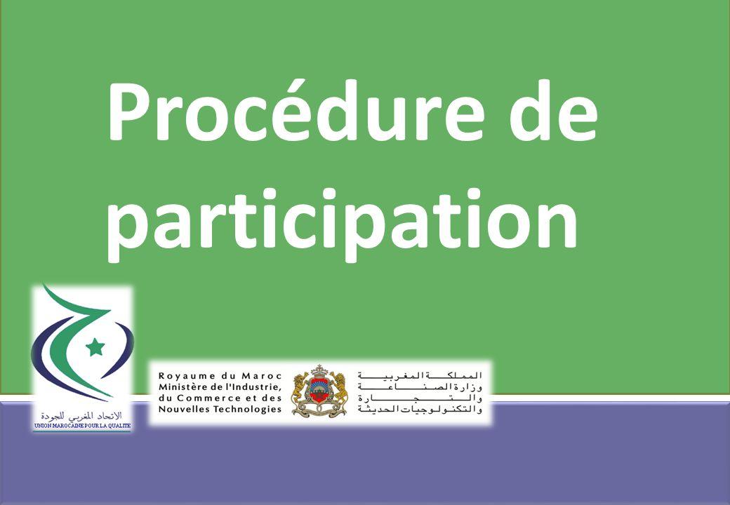 Procédure de participation