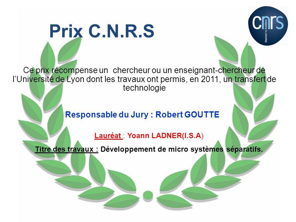 Ces deux prix récompensent deux élèves ingénieurs INSA de Lyon présélectionnés pour la qualité de leur rapport de stage ouvrier de 1 ère année effectué en 2011.