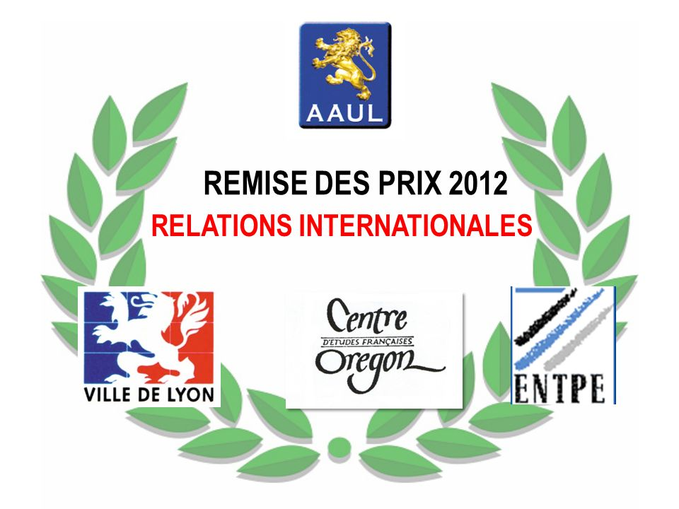 REMISE DES PRIX 2012 RELATIONS INTERNATIONALES