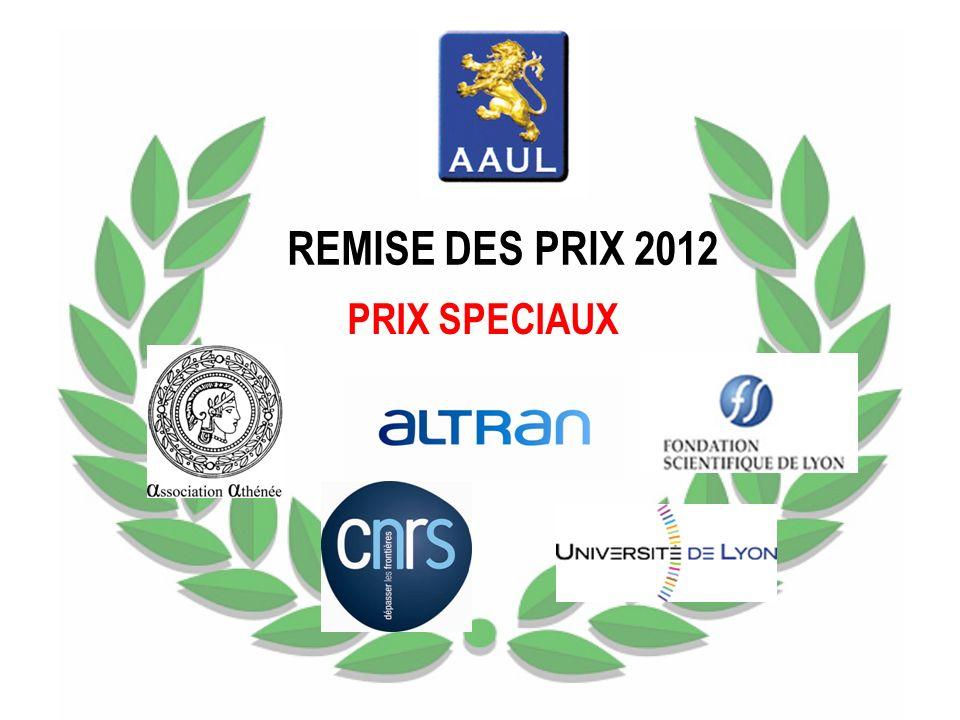 REMISE DES PRIX 2012 PRIX SPECIAUX