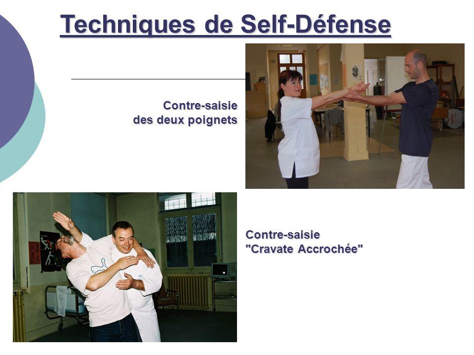Contre-saisie Cravate Accrochée Contre-saisie des deux poignets Techniques de Self-Défense