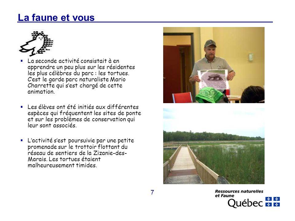 8 La faune et vous Pour les jeunes pêcheurs, ce nest pas toujours évident, surtout si cest la première expérience.