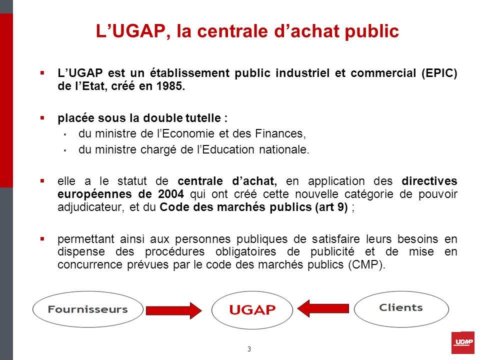 LUGAP, la centrale dachat public LUGAP est un établissement public industriel et commercial (EPIC) de lEtat, créé en 1985. placée sous la double tutel