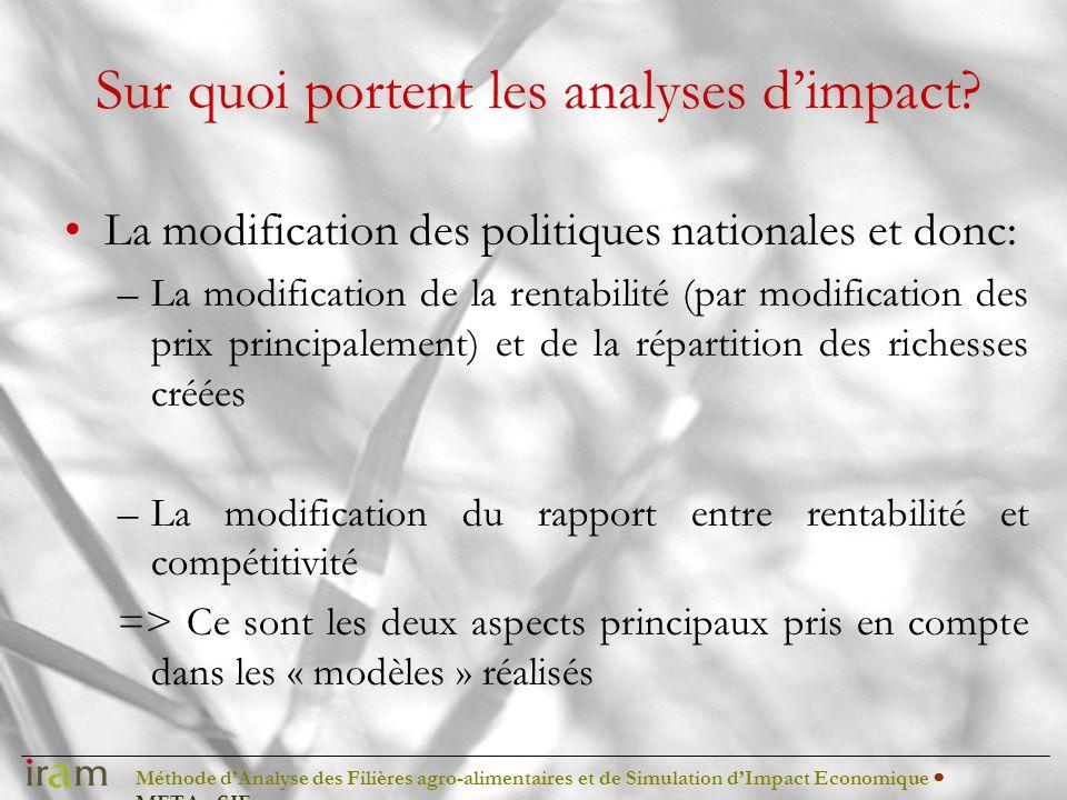Méthode dAnalyse des Filières agro-alimentaires et de Simulation dImpact Economique METAφSIE Riz Bénin: les volumes