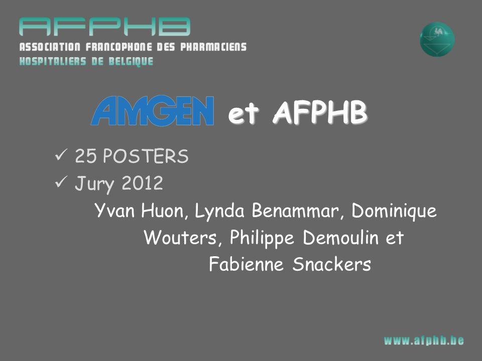25 POSTERS Jury 2012 Yvan Huon, Lynda Benammar, Dominique Wouters, Philippe Demoulin et Fabienne Snackers et AFPHB