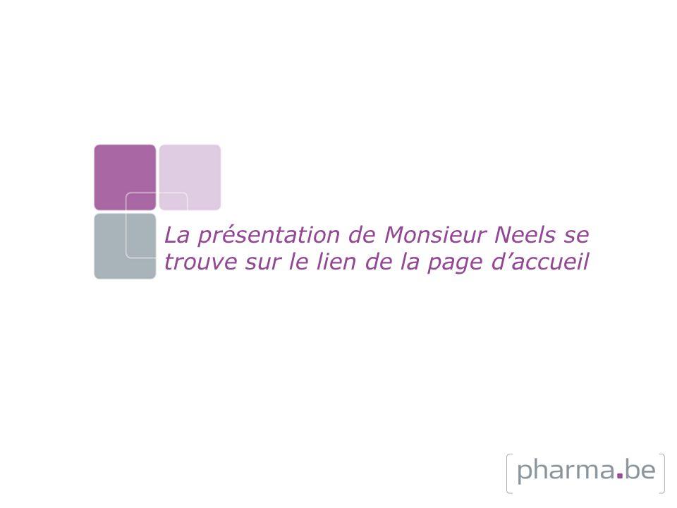 La présentation de Monsieur Neels se trouve sur le lien de la page daccueil