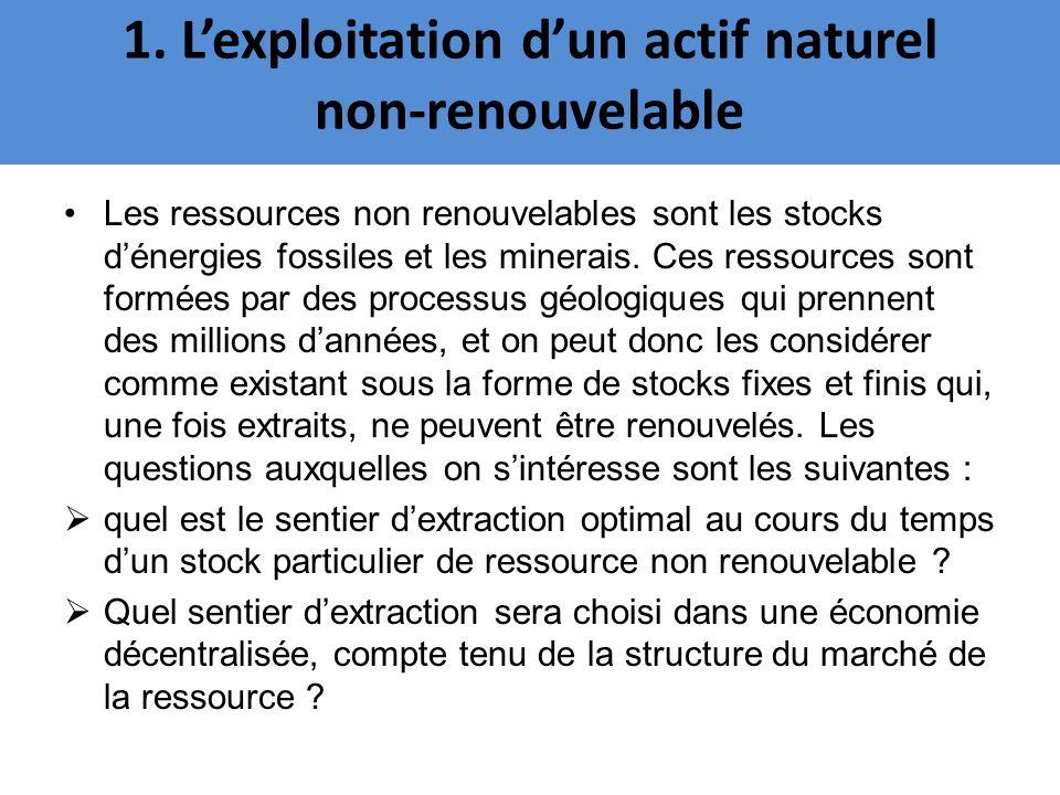 Les ressources non renouvelables sont les stocks dénergies fossiles et les minerais. Ces ressources sont formées par des processus géologiques qui pre