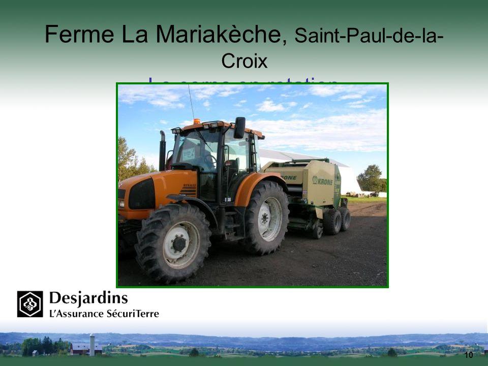 10 Ferme La Mariakèche, Saint-Paul-de-la- Croix Le corps en rotation