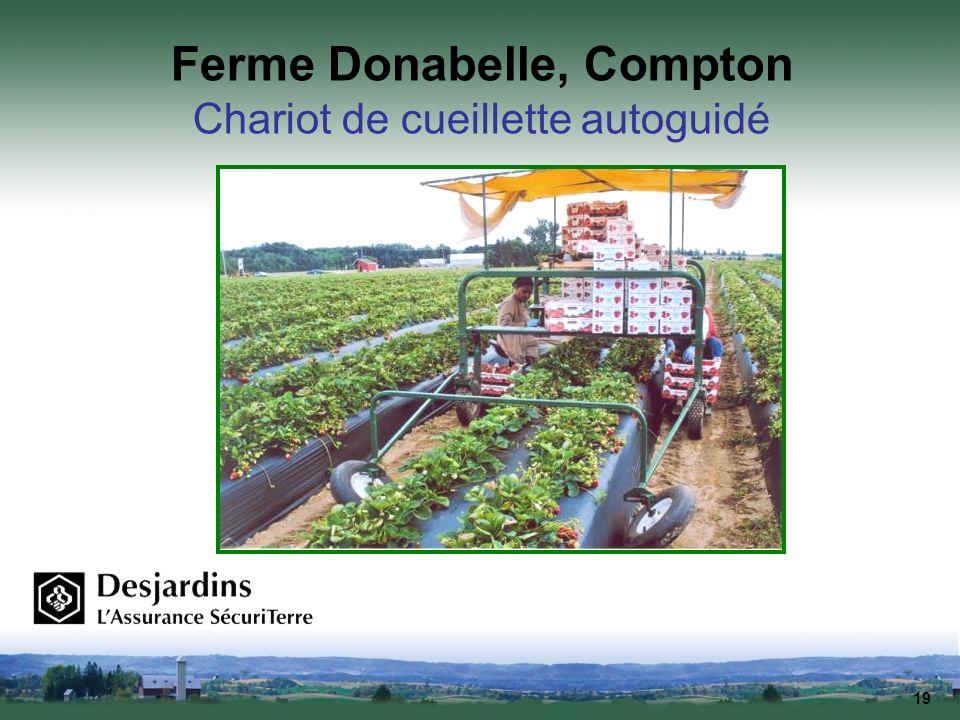 19 Ferme Donabelle, Compton Chariot de cueillette autoguidé