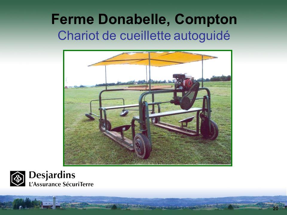 20 Ferme Donabelle, Compton Chariot de cueillette autoguidé