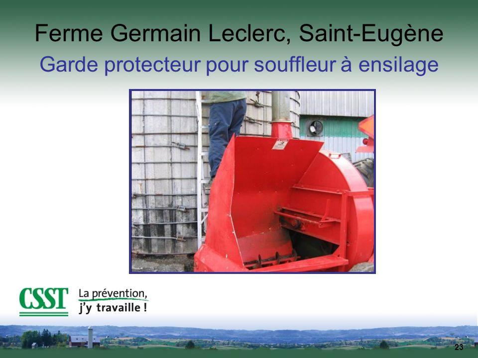 23 Ferme Germain Leclerc, Saint-Eugène Garde protecteur pour souffleur à ensilage