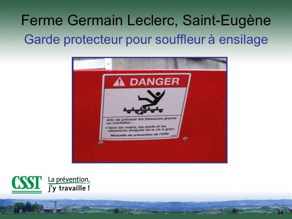 24 Ferme Germain Leclerc, Saint-Eugène Garde protecteur pour souffleur à ensilage