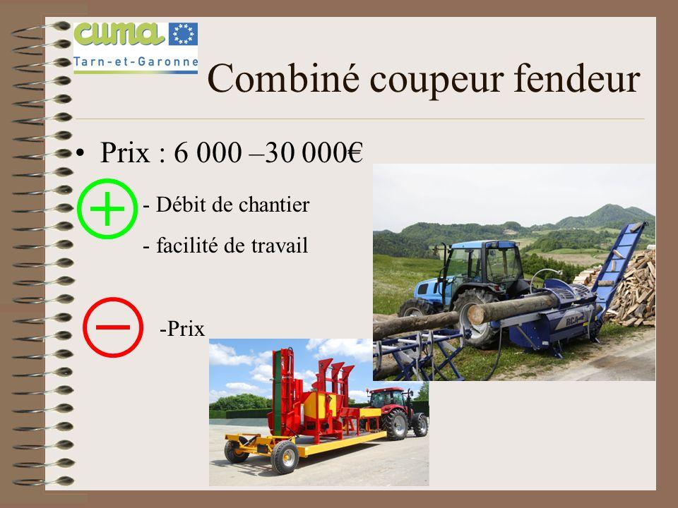 Combiné coupeur fendeur Prix : 6 000 –30 000 - Débit de chantier - facilité de travail -Prix