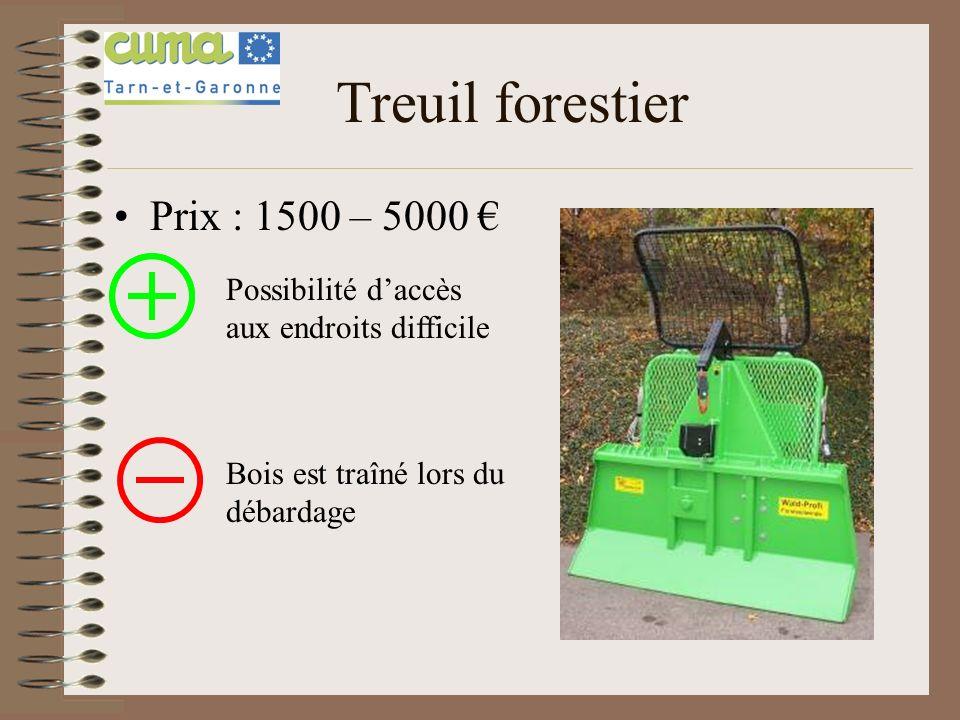 Grue de débardage Prix : 9000 – 15000 -Possibilité daccès aux endroits difficile -Le bois peut être porté Prix