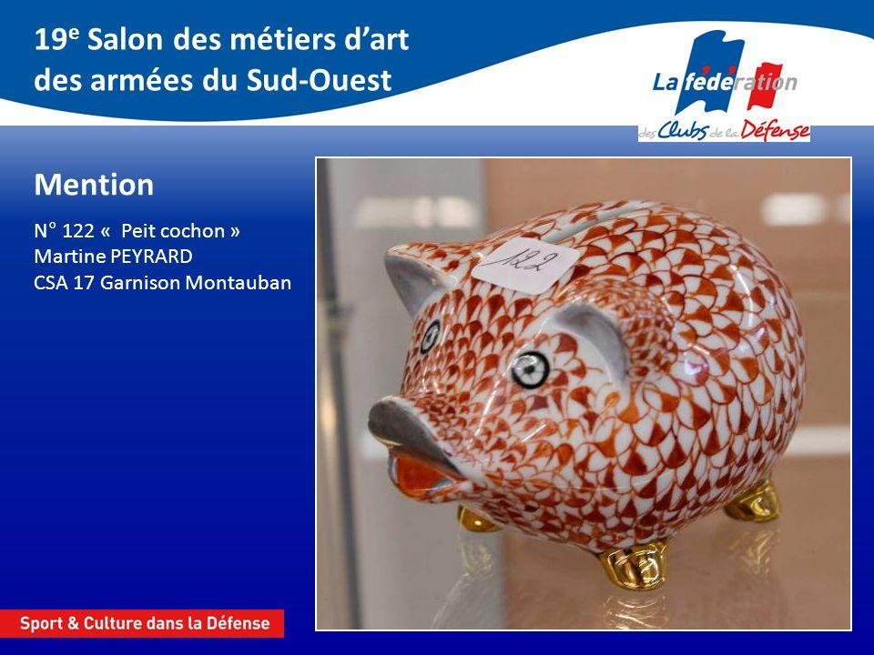 19 e Salon des métiers dart des armées du Sud-Ouest Vitrail 2 e prix N° 53 « Lampe pyramide » J.