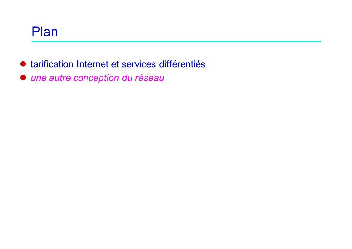 Plan tarification Internet et services différentiés une autre conception du réseau