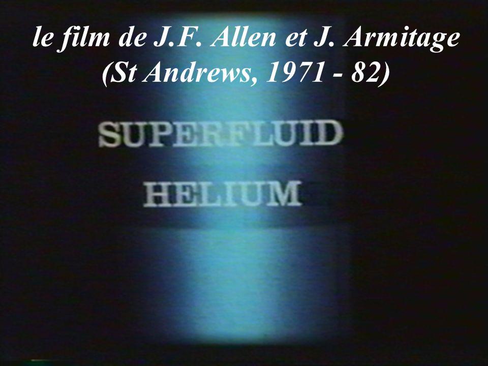 Un liquide très fluide Wilhelm, Misener, et Clark (Toronto 1935): lhélium II est beaucoup moins visqueux que lhélium I.