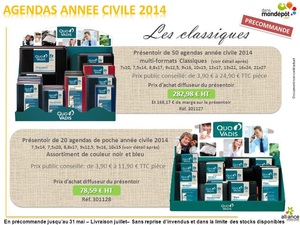 Prix public conseillé: de 18,90 à 29,90 TTC pièce Prix dachat diffuseur du présentoir 236,72 HT Réf.