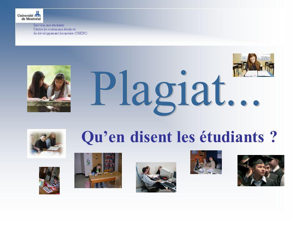 Services aux étudiants Centre de soutien aux études et de développement de carrière (CSEDC) Quen disent les étudiants ?