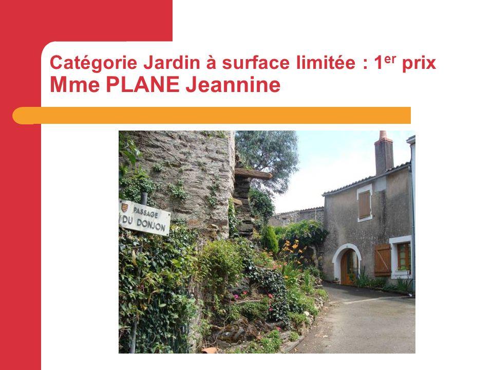 Catégorie Jardin à surface limitée : 1 er prix Mme PLANE Jeannine