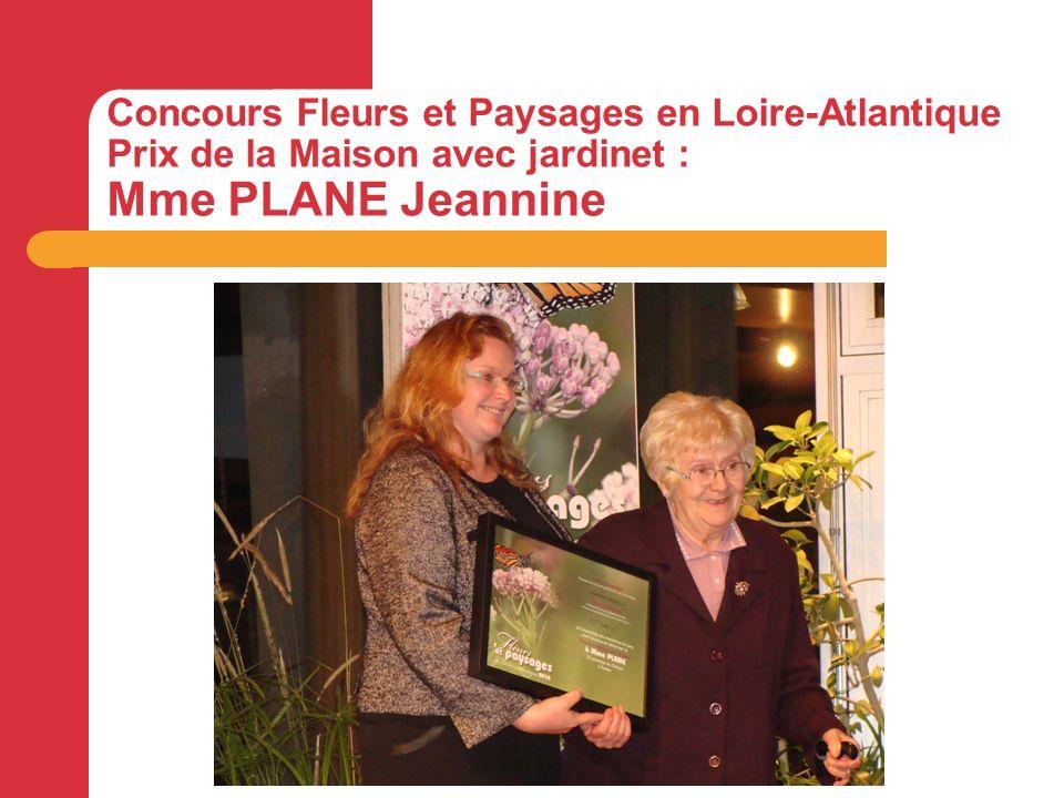 Concours Fleurs et Paysages en Loire-Atlantique Prix de la Maison avec jardinet : Mme PLANE Jeannine