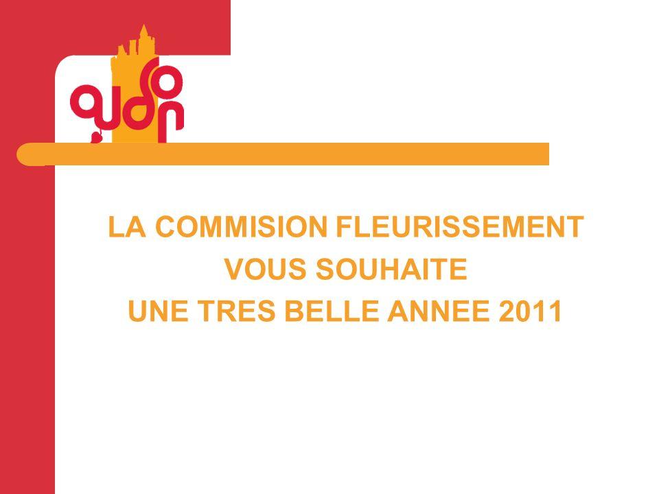LA COMMISION FLEURISSEMENT VOUS SOUHAITE UNE TRES BELLE ANNEE 2011