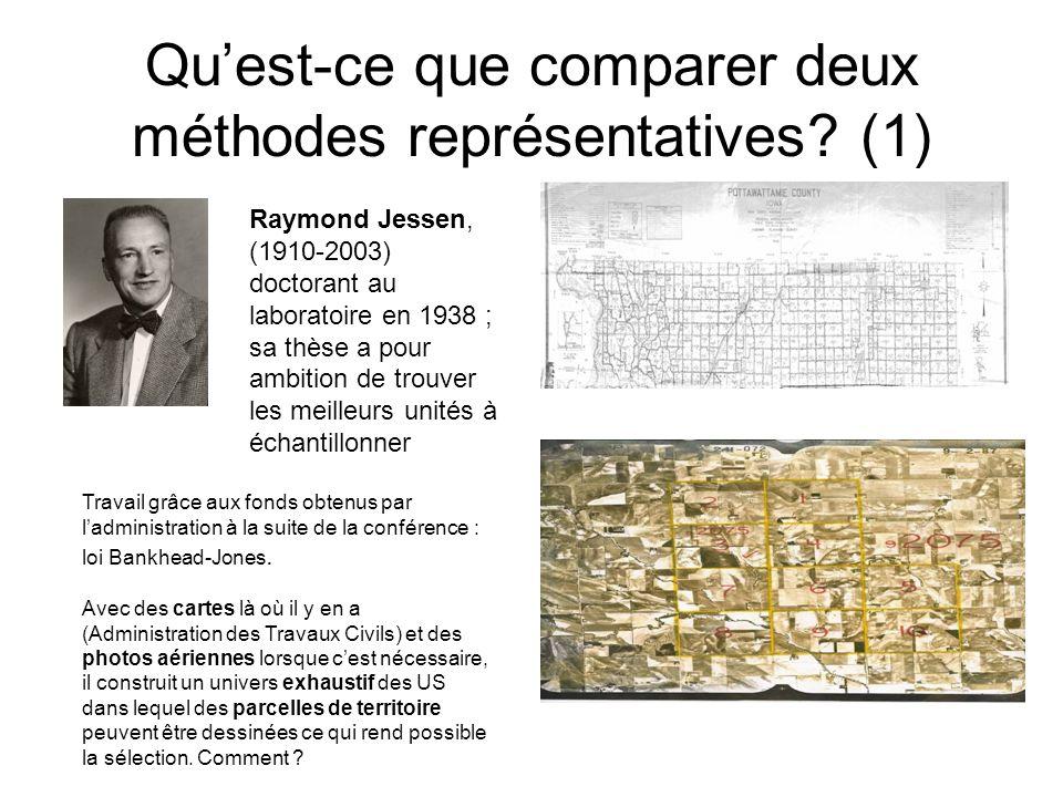 Quest-ce que comparer deux méthodes représentatives.