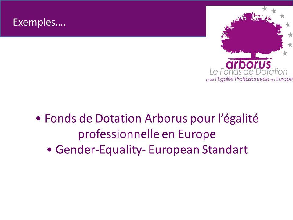Fonds de Dotation Arborus pour légalité professionnelle en Europe Gender-Equality- European Standart Exemples….
