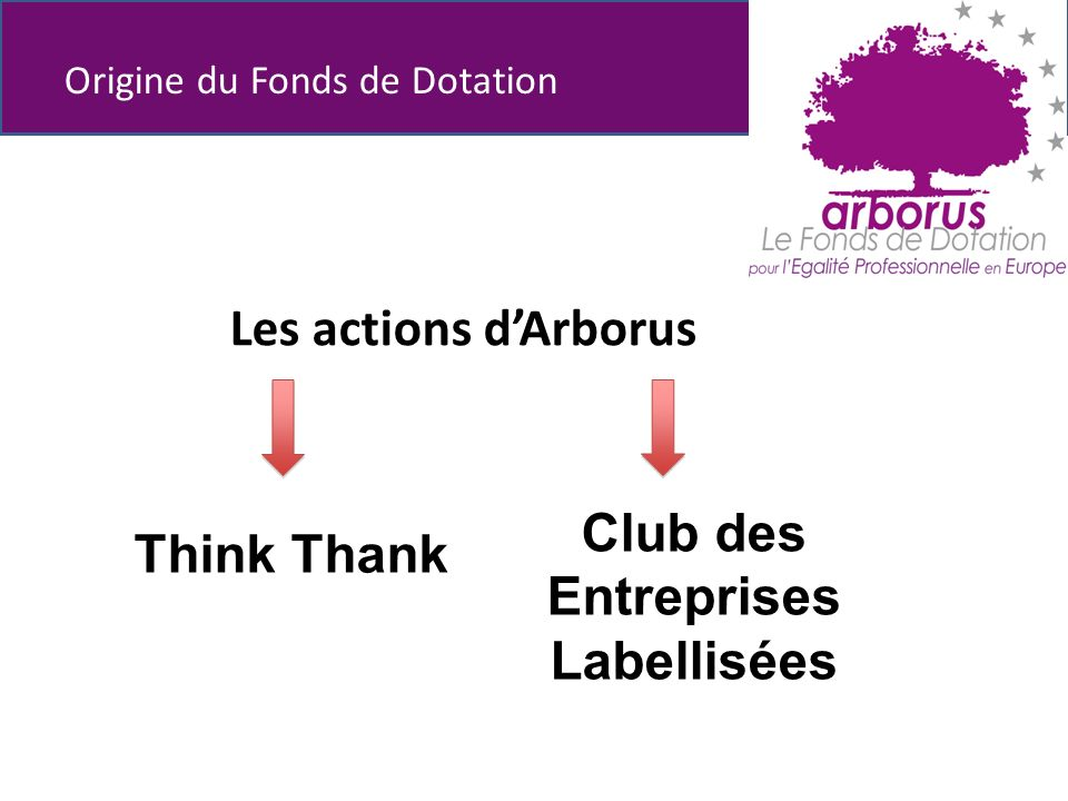 Les actions dArborus Origine du Fonds de Dotation Club des Entreprises Labellisées Think Thank