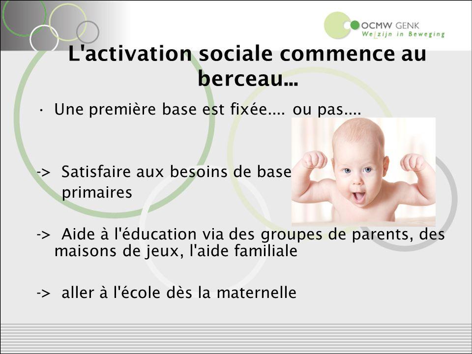 L activation sociale commence au berceau... Une première base est fixée....