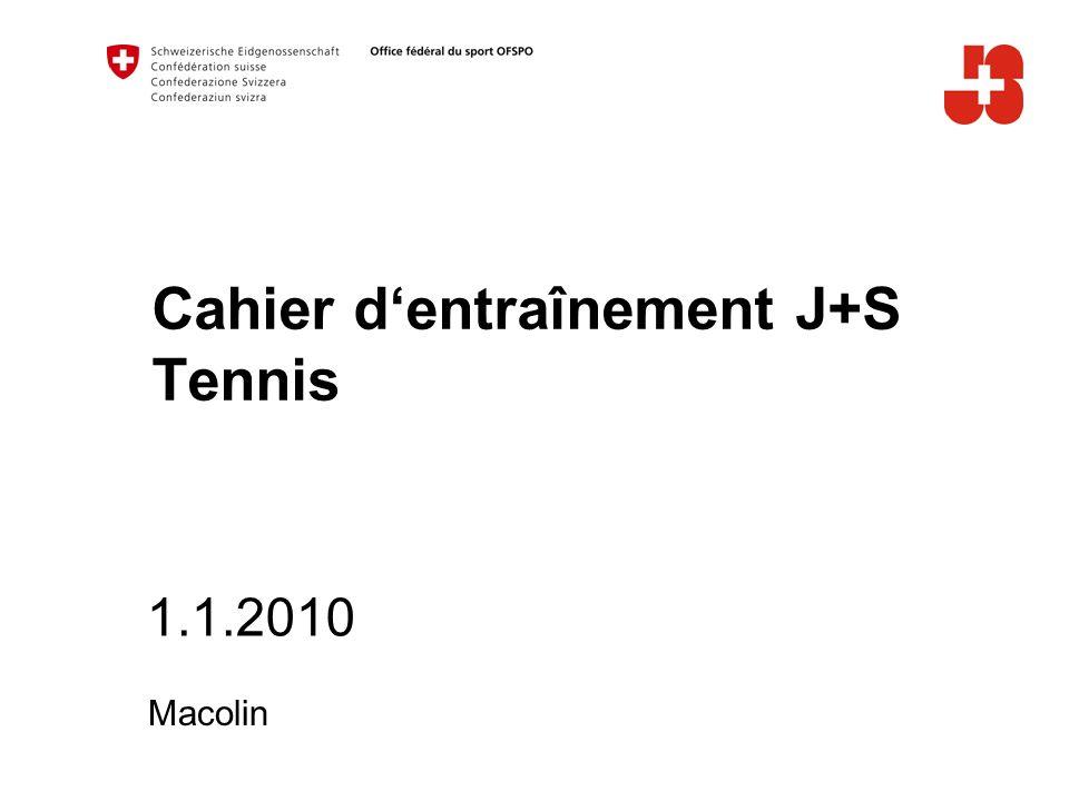 1.1.2010 Macolin Cahier dentraînement J+S Tennis