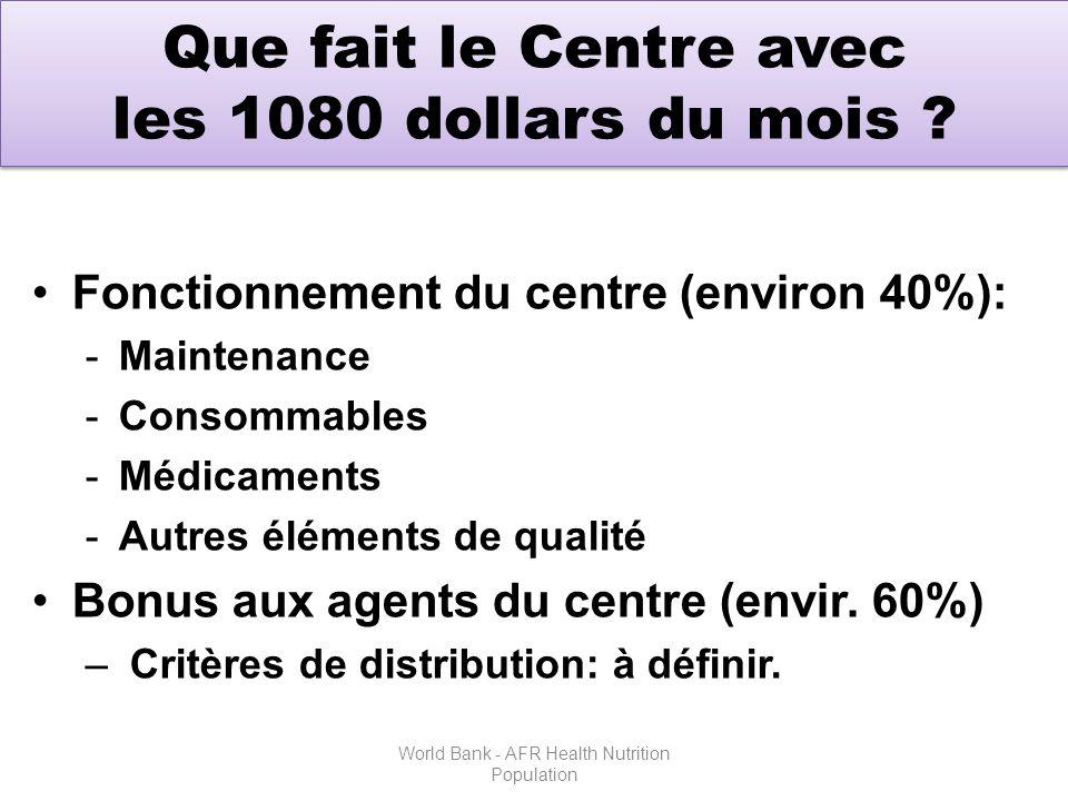 Que fait le Centre avec les 1080 dollars du mois .