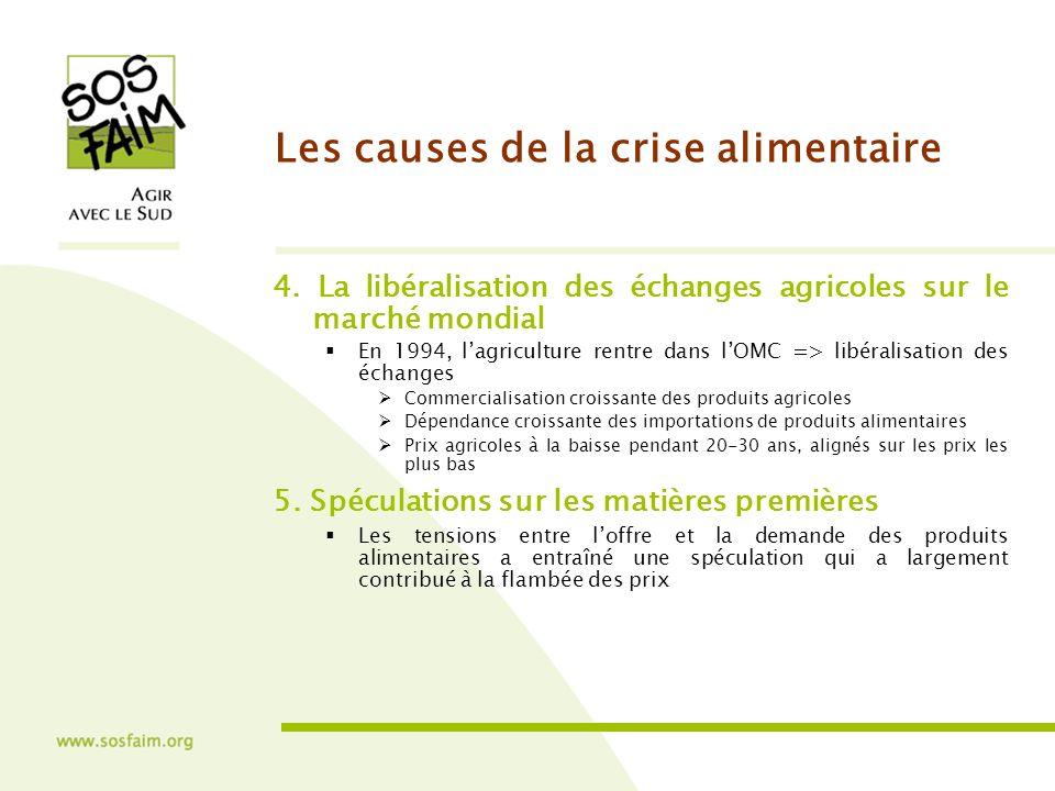 Les causes de la crise alimentaire 4.