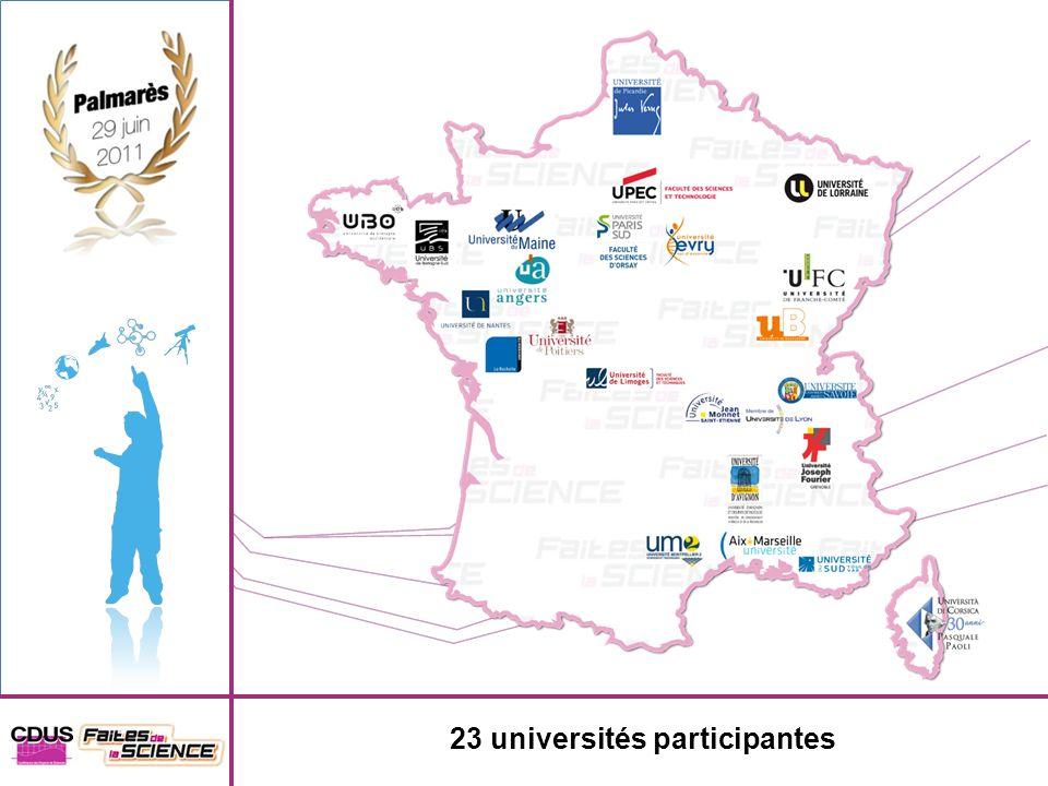 23 universités participantes