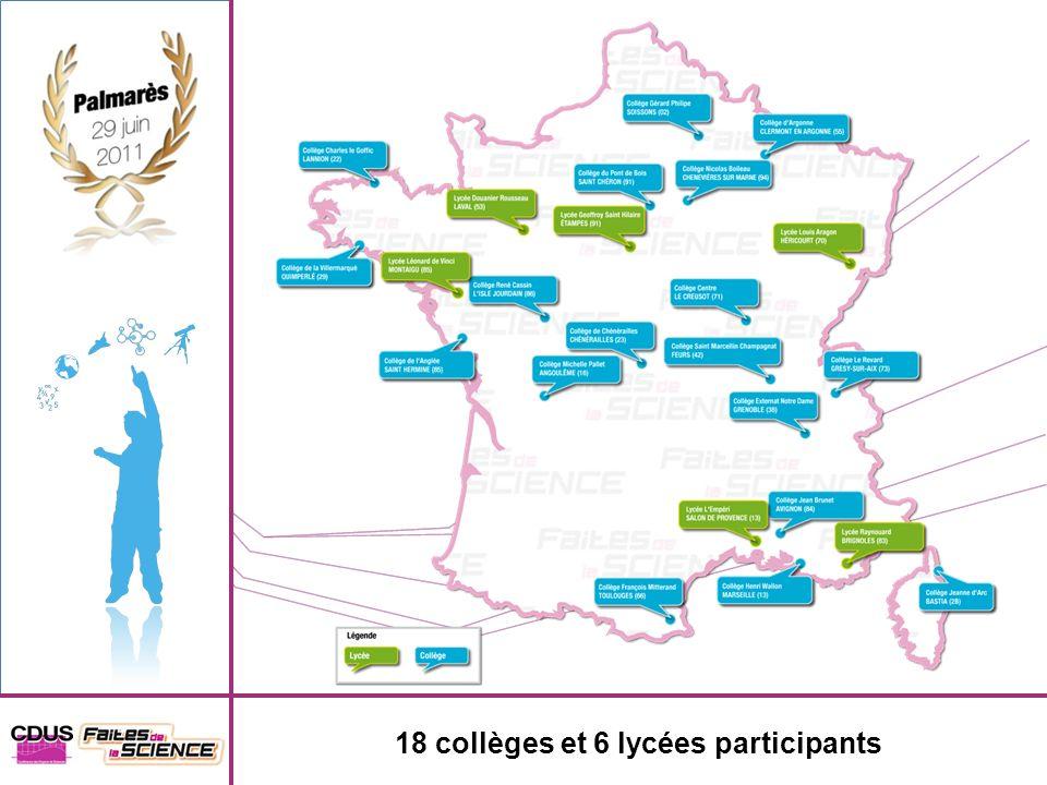 18 collèges et 6 lycées participants