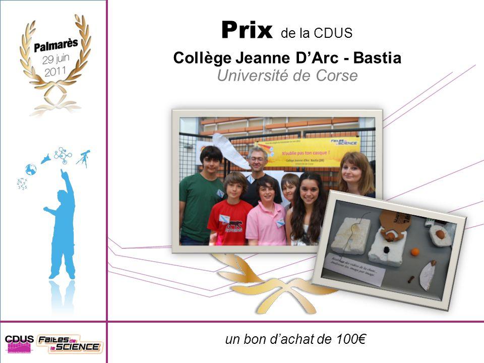 un notebook offert par le laboratoire SIC 9 e prix Collège Henri Wallon - Marseille Aix-Marseille université