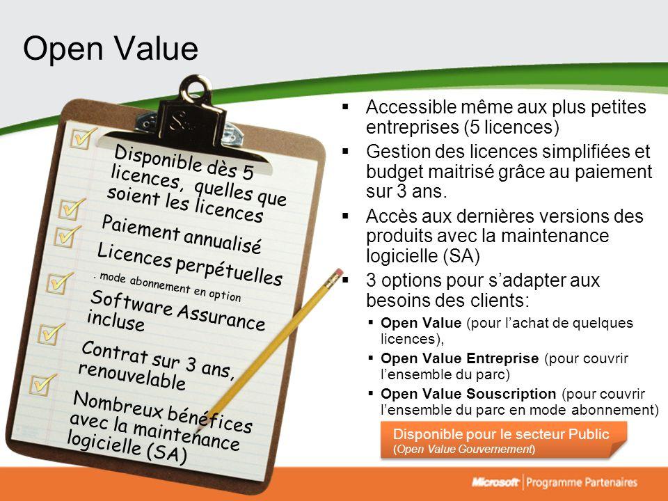 10 Options 2 niveaux de prix dans les options Entreprises : de 5 à 249 postes à partir de 250 postes.