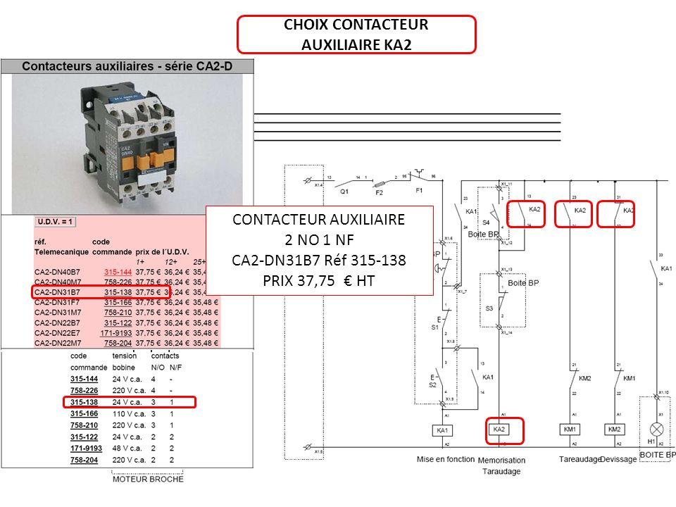 CHOIX CONTACTEUR AUXILIAIRE KA2 CONTACTEUR AUXILIAIRE 2 NO 1 NF CA2-DN31B7 Réf 315-138 PRIX 37,75 HT