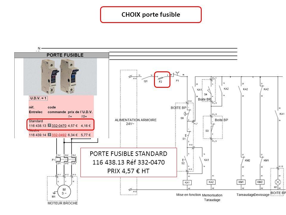 CHOIX porte fusible PORTE FUSIBLE STANDARD 116 438.13 Réf 332-0470 PRIX 4,57 HT