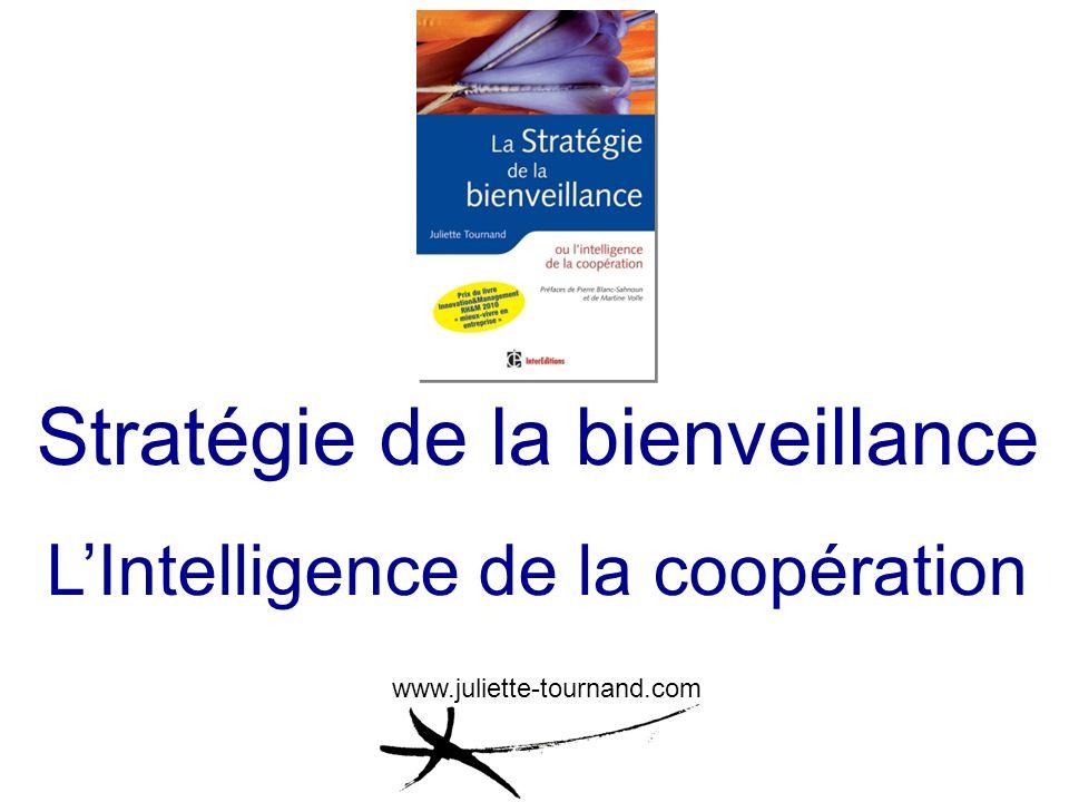 Stratégie de la bienveillance LIntelligence de la coopération www.juliette-tournand.com